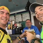 Another beer stop on the way to marathon success!